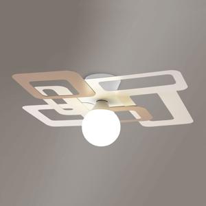 Gibas Stropné svietidlo Kuadra, krémovo-hnedé 60 cm