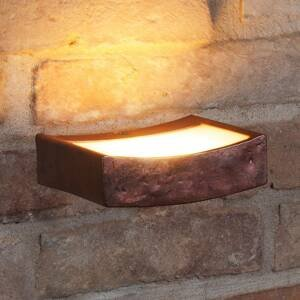 Gibas Nástenné LED svietidlo Dolce hrdzavý vzhľad, 13 cm