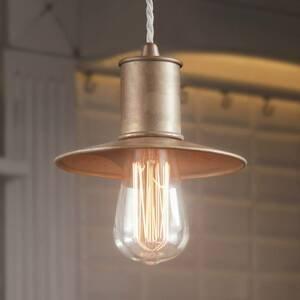 Gibas Rustikálna závesná lampa Nio z kovu