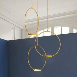 Gibas 3-plameňové zlaté závesné LED svietidlo Odigiotto