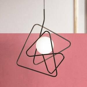 Gibas Rafinovaná dizajnová závesná lampa Inciucio čierna