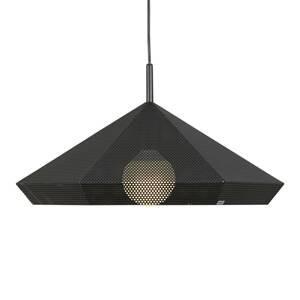 Gibas Čierna závesná lampa Priamo perforovaný vzor 48cm