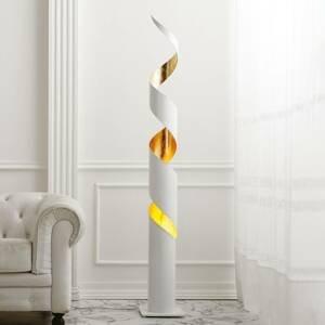 Gibas Stojaca lampa Remi v bielo-zlatej