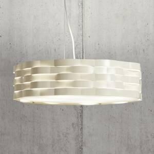Gibas Závesná lampa Flutti z oceľového plechu slonovina