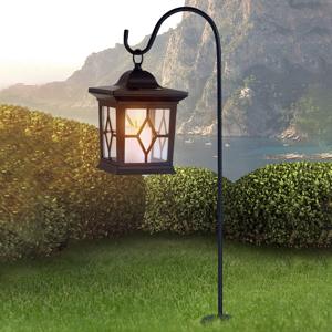 Globo Lucernové solárne svietidlo Eboni v čiernej