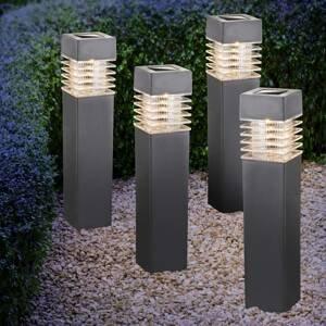 Globo Solárne LED svietidlo 33269-4 s hrotom, 4 ks sivé