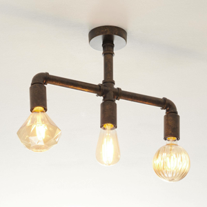 Lampenwelt.com Leonas LED stropná lampa, priemyselná, 3 svetlá