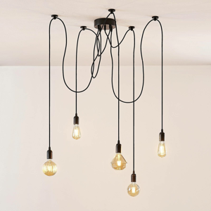 Lampenwelt.com Maxie – závesná LED lampa s filament žiarovkami