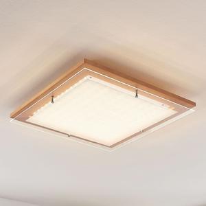 Lampenwelt.com Drevené stropné LED svietidlo Cattleya, 52 cm