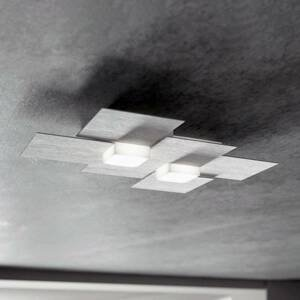 GROSSMANN GROSSMANN Creo stropné LED 2-pl brúsený hliník