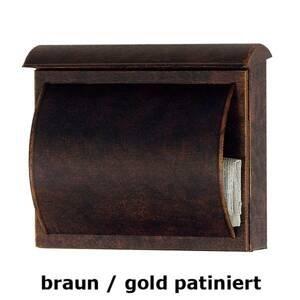 Heibi Poštová schránka TORES, hnedá/zlatá patinovaná
