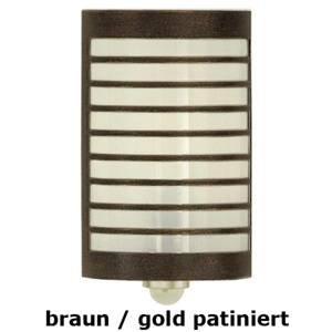 Heibi Nástenné svetlo TERU detektor pohybu hnedé/zlaté