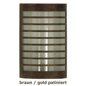 Heibi TERU – nástenné svietidlo hnedá/zlatá patinovaná