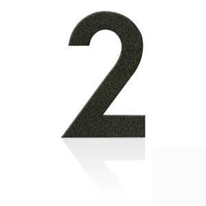 Heibi Čísla z ušľachtilej ocele číslica 2 kávová hnedá