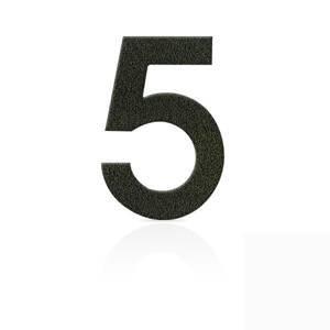 Heibi Čísla z ušľachtilej ocele číslica 5 kávová hnedá