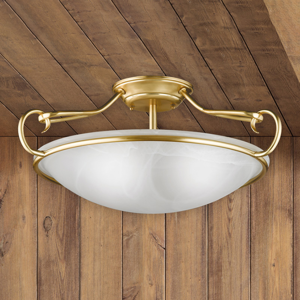 FISCHER & HONSEL Dekoratívne stropné svietidlo Como, matná mosadz