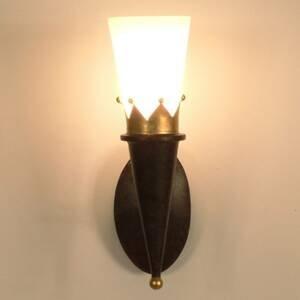 J. Holländer Nástenné svietidlo CORONA so zlatou dekoráciou