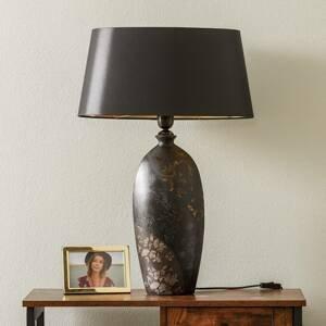 J. Holländer Stolná lampa Mary, keramika a chintz, výška 66cm