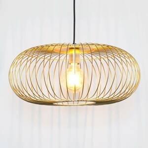J. Holländer Závesná lampa Protetto, zlatá, Ø 40cm