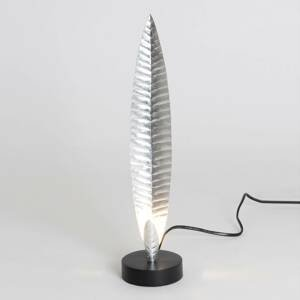 J. Holländer Stolná lampa Penna striebro výška 38cm