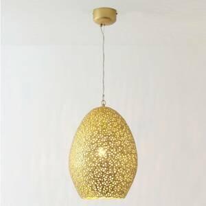 J. Holländer Závesná lampa Cavalliere, zlatá, Ø 34cm