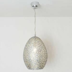 J. Holländer Závesná lampa Cavalliere, striebro, Ø 34cm