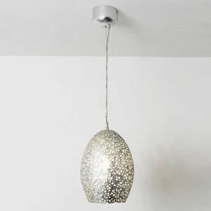 J. Holländer Závesná lampa Cavalliere, striebro, Ø 22cm
