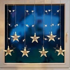 Hellum LED dekorácia na okno, záves hviezda