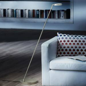 Holtkötter Holtkötter Plano S – stojaca LED lampa, platina
