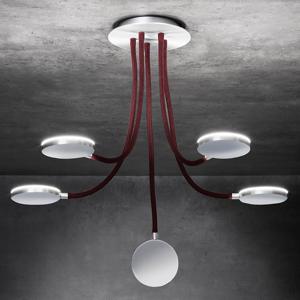 Holtkötter Holtkötter Flex D5 stropné LED svietidlo červené 5