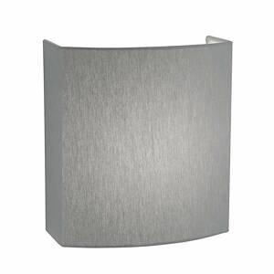 Hufnagel Svetlosivý chinc nástenné LED Livia stmievateľné