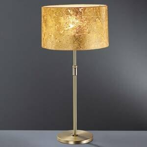 Hufnagel Zlatá stolná lampa Loop 55 – 75cm vysoká