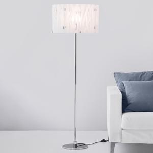 Herstal Stojaca lampa Grass s bielym akrylovým tienidlom