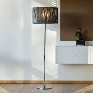 Herstal Stojaca lampa Grass dymovo sivé akrylové tienidlo