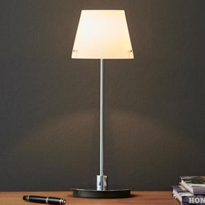 Herstal Stolná lampa Gil s opálovým skleneným tienidlom