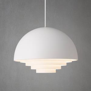 Herstal Biela závesná lampa Motown, 36cm