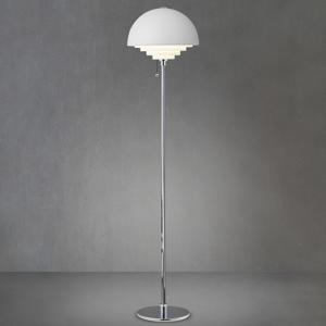 Herstal Kovová stojaca lampa Motown v bielom prevedení
