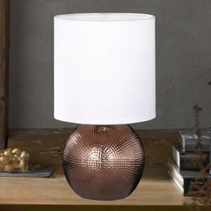 FISCHER & HONSEL Malá stolná lampa Foro podstavec medenej farby