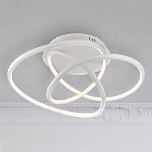 FISCHER & HONSEL Biele stropné LED svietidlo Galaxy, stmievateľné
