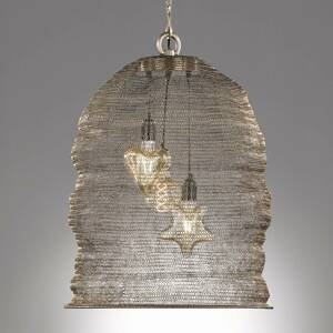 FISCHER & HONSEL Ano – závesná lampa s klietkovým tienidlom Ø 52cm
