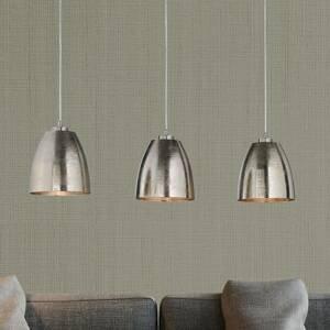 FISCHER & HONSEL Závesná lampa Cannes s tromi kovovými tienidlami