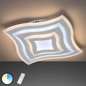 FISCHER & HONSEL LED stropné svietidlo Gorden s diaľkovým ovládačom