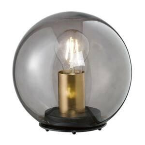 FISCHER & HONSEL Stolná lampa Dini s guľovým tienidlom zo skla 30cm