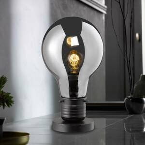 FISCHER & HONSEL Stolná lampa Louis tónované sklenené tienidlo 37cm
