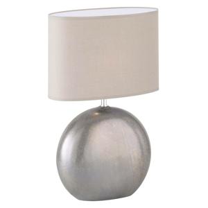 FISCHER & HONSEL Stolná lampa Lino prírodná keramický podstavec 54
