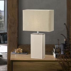 FISCHER & HONSEL Stolná lampa Bert sklenený podstavec výška 51cm
