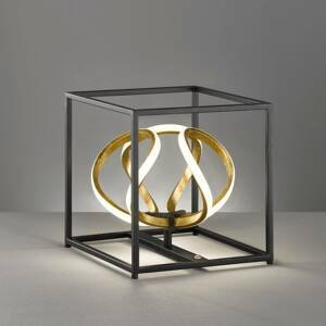 FISCHER & HONSEL Stolná LED lampa Gesa v čiernej a zlatej