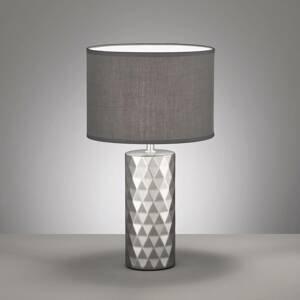 FISCHER & HONSEL Stolná lampa Abo s látkovým tienidlom, striebro