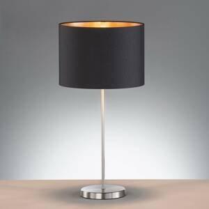 FISCHER & HONSEL Stolná lampa Loft s textilným tienidlom, čierna