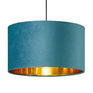 FISCHER & HONSEL Závesná lampa Aura zamatové tienidlo Ø 40cm modrá